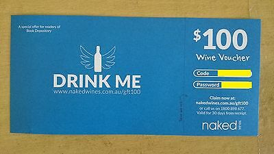 $100 Nakedwines Giftcard/voucher/coupon Red White Mixed Wines