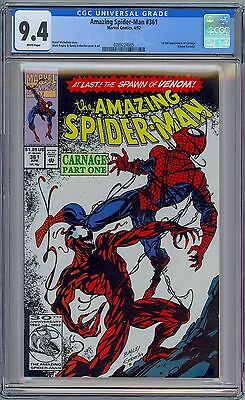 AMAZING SPIDER-MAN #361 - CGC 9.4 - WP NM First CARNAGE