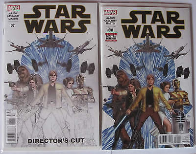 Star Wars #1 1st First Print Comic + Directors Edition - Marvel 2015
