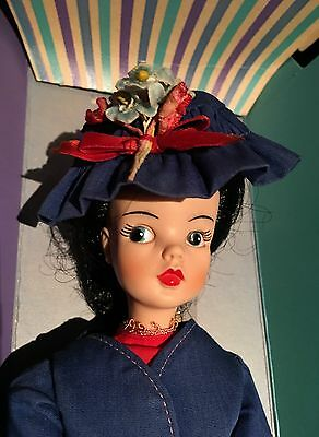 Vintage Canadian Reliable Mary Poppins Doll 1967 Sindy Tammy Black Hair Box