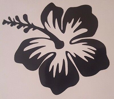 Hibiscus Flower Vinyl Sticker Decal home laptop choose Color/Size