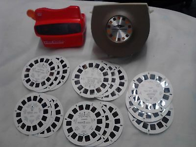 Vintage Sawyers Lighted View-Master w/ Disney Reels & Extra 3D View Master Works