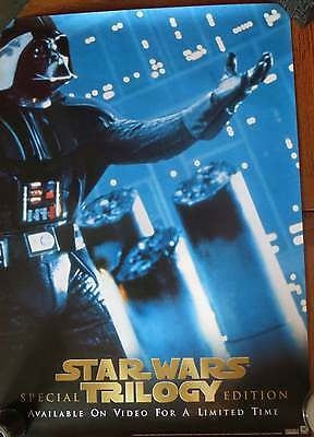Star Wars Trilogy - Vader - Rare Iconic Video Promo Poster from mid 1990's