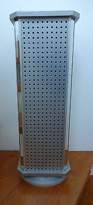 Silver Mirror Retail Display Stand Pegboard Hook Magnetic Markets Counter Top
