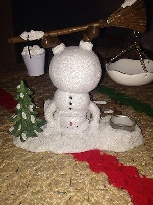 Yankee Candle Headstand Snowman Tart Burner Festive Holiday Seasonal
