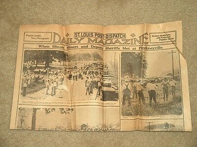 August 25, 1932 St Louis Post-Dispatch Daily Magazine Newspaper *nice Condition