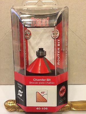 "NEW FREUD 40-106 1 3//4/"" CAMFER ROUTER BIT ITALY"