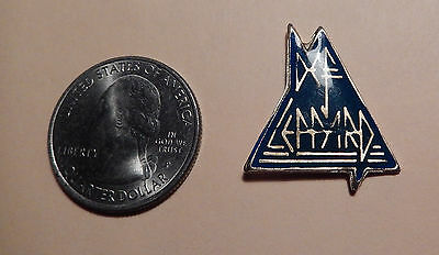 Def Leppard Blue Triangle Cloisonne Pin c.1980's