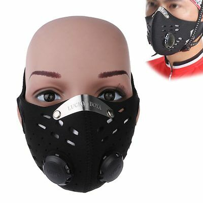 Motorcycle Bike Cycling Half Face Anti-dust Air Purifying Pollution Filter Mask