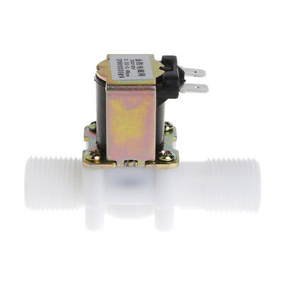 """Electric Solenoid Valve Magnetic DC 12V N/C Water Air Inlet Flow Switch 1/2"""" YF"""