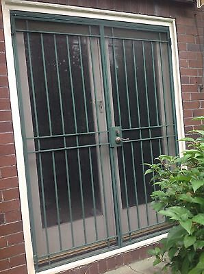 Security door steel heavy quality with frame & key DOUBLE Your Display Gallery