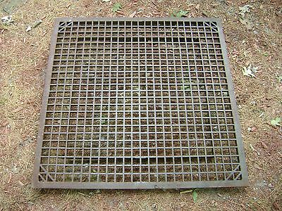 "ANTIQUE FLOOR GRATE LARGE HEAVY DUTY 35"" x 35 1/2"". THICK CAST IRON"