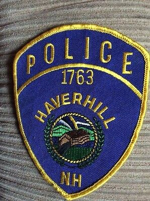 Vintage Rare POLICE PATCH HAVERHILL NH 1763 BEAUTIFUL COLORS