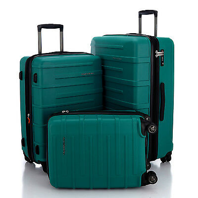 "HAUPTSTADTKOFFER Ost 20""24""28"" Luggage Suitcase Set Travel Bag TSA Trolley Green"