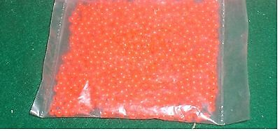 4mm 1000 Count Round Fluorescent RED Beads USA Fishing Tackle