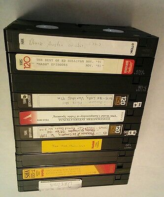 Used Blank / Recorded Vhs Tapes * Lot Of 10 Blank / Recorded Vhs Tapes