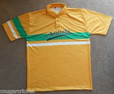 Australia 80s 90s Style One Day ODI Australian Cricket Shirt