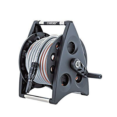 Claber Kiros Kit 20m Hose Reel - Garden Irrigation - Wall Mounted - Spray Nozzle