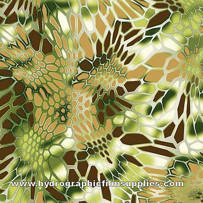 Hydrographic Film Water Transfer Printing Film Hydro Dip Golden Brown Hex Camo