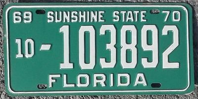 Florida FL 1969-1970 (Broward County)  license plate / tag