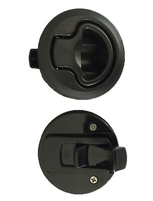 2 FLUSH MOUNT SLAM LATCH Boat/Caravan/4WD/ Door Latch 62mm Suits 18mm deep Black