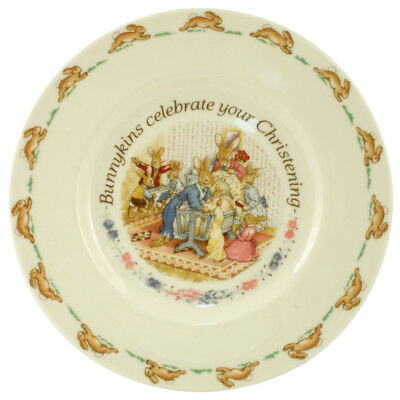 NEW Royal Doulton Bunnykins Nursery Christening Plate