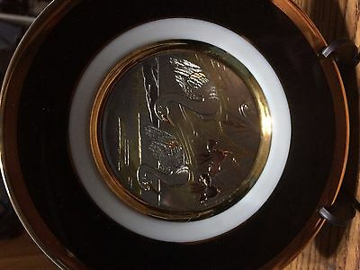 Gold & Black Goose Antique China Plate  - Really High Quality - Looks Amazing!!