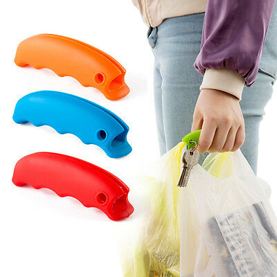 Shopping Helper Handle Carry Bag Food Hanging Relaxed Portable Rubber Device Set