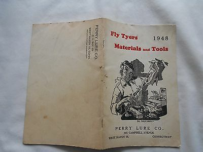 1948 Fly Tyers Materials And Tools-Price List-Perry Lure Co.w Haven Ct.30 Pgs