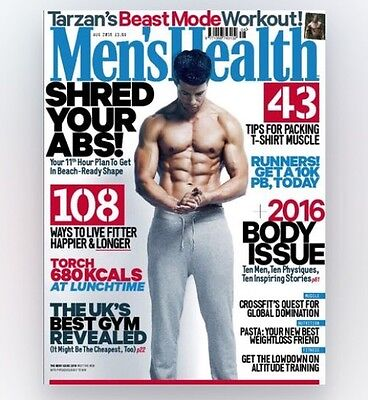 Mens Health Magazine August 2016 - (BRAND NEW COPY)