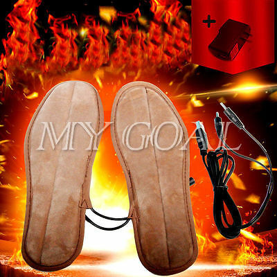 Heated Insoles Foot Warmer Heater USB Rechargeable Charging Heat Boots Shoes Pad