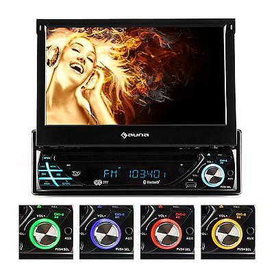"Car Radio Dvd Player Flip Down 7"" Lcd Screen Bluetooth Sd Usb Mp3 Aux Am Fm Cd"