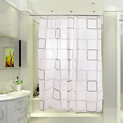 Fashion PEVA Bathroom Shower Curtain Waterproof Anti-mould Hangings With Hooks