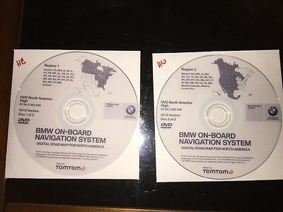 2015 BMW North America Navigation DVD - HIGH EAST AND WEST 2016 MKIV
