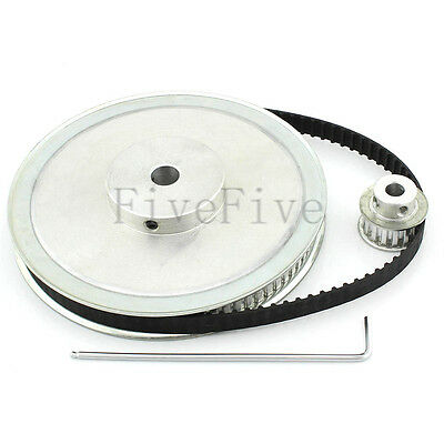 XL 80/16 Teeth 1/5'' pitch Timing Pulley Belt Set Kit Reduction Ratio 5:1 CNC