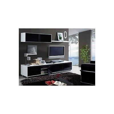 Mueble De Salon Negro Brillo