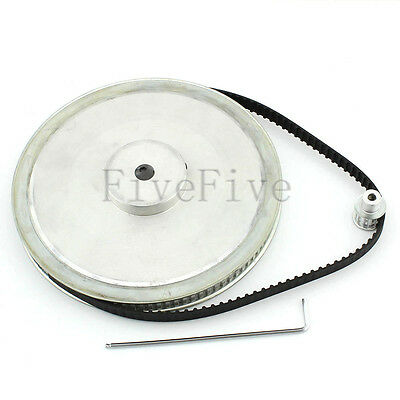 XL 100/10 Teeth 1/5'' pitch Timing Pulley Belt Set Kit Reduction Ratio 10:1 CNC