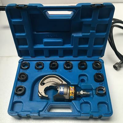 Cembre RHC 131 Hydraulic Crimper Tool with Hand Pump and Dies(3 Sets missing) UU