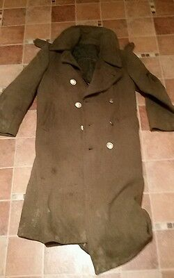 fury film prop us army trench coat over coat