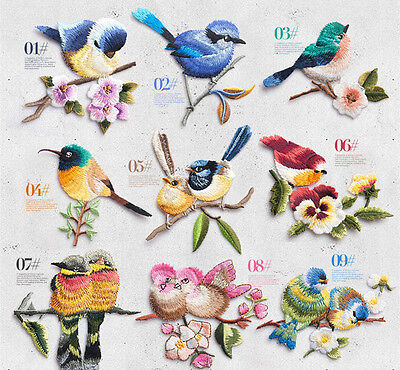 Birds Iron On Embroidered Applique Patch