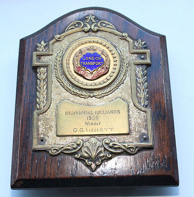 London Transport Billiards Championship Winner Shield 1958