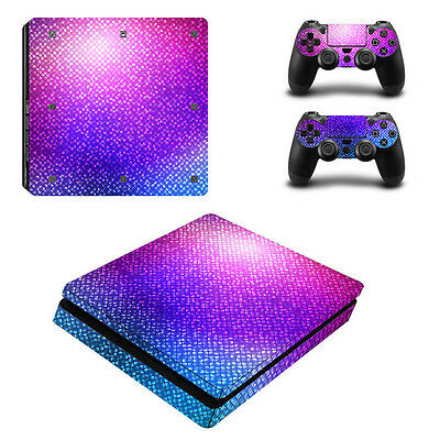 Ultra thin Skin Sticker Cover For PlayStation PS4slim Console+Controllers 0015#
