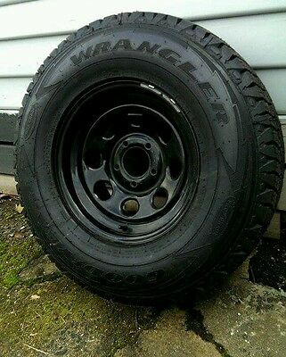 Full set of Black Pro comp 5 stud 16 inch steel rims with tires
