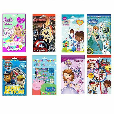 Stickers Sheets Book 700 Sticky Picture TV Character Movie Toys Boy Girl Art Fun