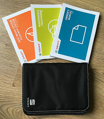 Seat Leon Owners Manual Handbook Pack With Wallet With Service 2012-2016 Ref3885