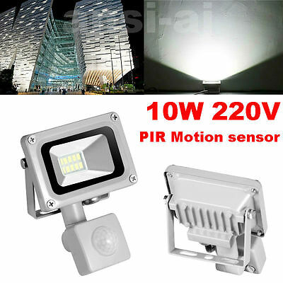 10W LED Flood Light PIR Motion Sensor Outdoor Garden Landscape Yard Spot Lamp