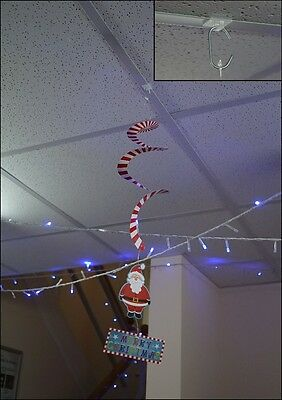 Christmas decoration hanging kit suspended ceiling grid clip on hook