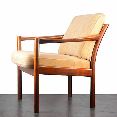 Vintage Danish stained beech armchair