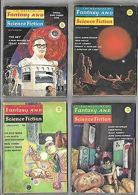 The Magazine of Fantasy and Science Fiction Isaac Asimov John Chistopher