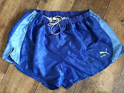 Vintage Puma Sports Shorts 80s XL Sprint Retro Running Glanz Men's Retro W38 D8